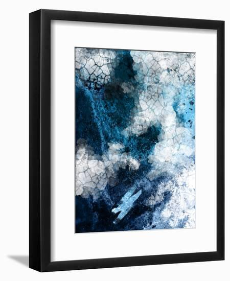 Abstract Navy White 2- Urban Epiphany-Framed Giclee Print