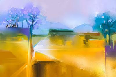 Abstract Yellow Art