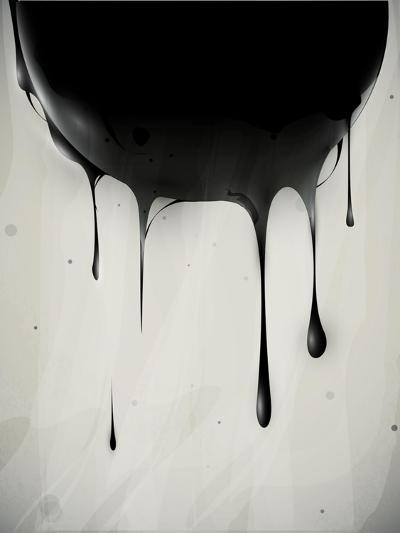 Abstract Oil Slick Flows With Drops-fet-Art Print