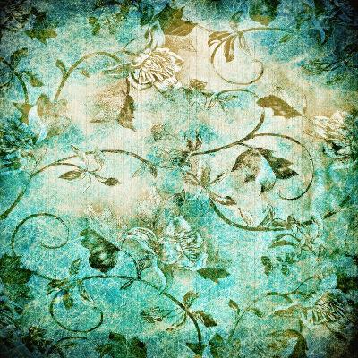 Abstract Old Background With Grunge Texture-iulias-Art Print