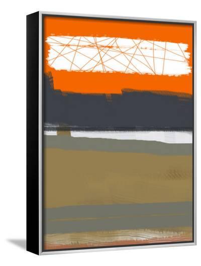Abstract Orange 1-NaxArt-Framed Canvas Print