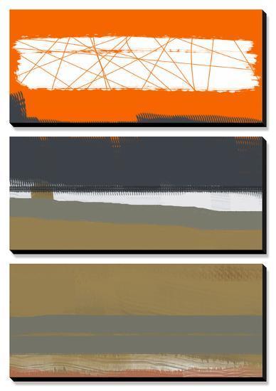 Abstract Orange 1-NaxArt-Canvas Art Set