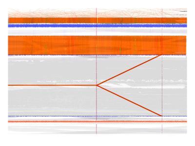 Abstract Orange and Grey-NaxArt-Art Print