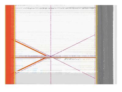 Abstract Orange and White-NaxArt-Art Print
