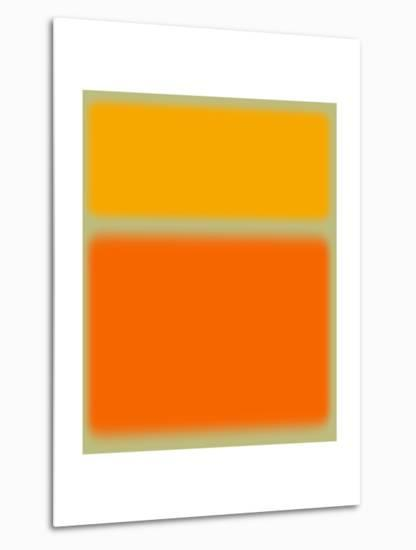 Abstract Orange and Yellow-NaxArt-Metal Print