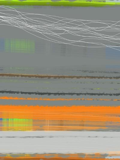 Abstract Orange Stripe1-NaxArt-Art Print