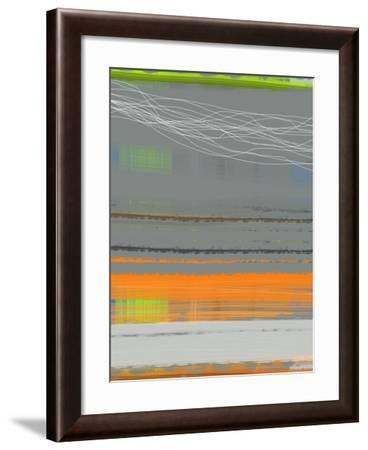Abstract Orange Stripe1-NaxArt-Framed Art Print