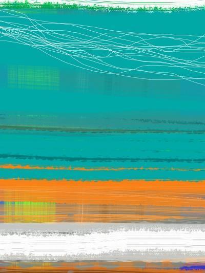 Abstract Orange Stripe2-NaxArt-Art Print