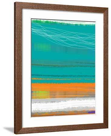 Abstract Orange Stripe2-NaxArt-Framed Art Print