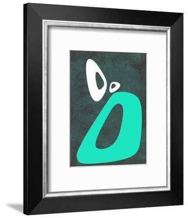 Abstract Oval Shape 5-NaxArt-Framed Art Print