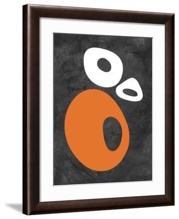 Abstract Oval Shapes 1-NaxArt-Framed Art Print