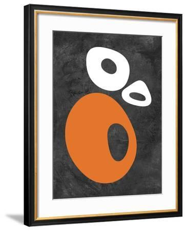 Abstract Oval Shapes 1-NaxArt-Framed Art Print