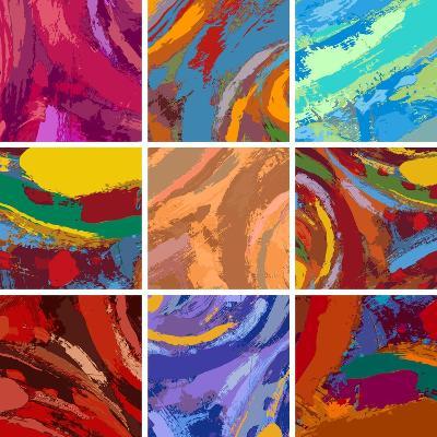 Abstract Painting Background Design Set-Igor Zakowski-Art Print