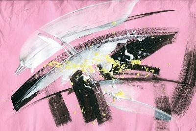 Abstract Painting Background with Expressive Brush Strokes-run4it-Art Print