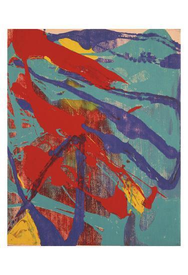 Abstract Painting, c. 1982 (aqua, red, indigo, yellow)-Andy Warhol-Art Print