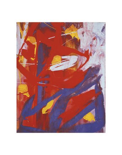 Abstract Painting, c. 1982 (indigo, red, white)-Andy Warhol-Art Print