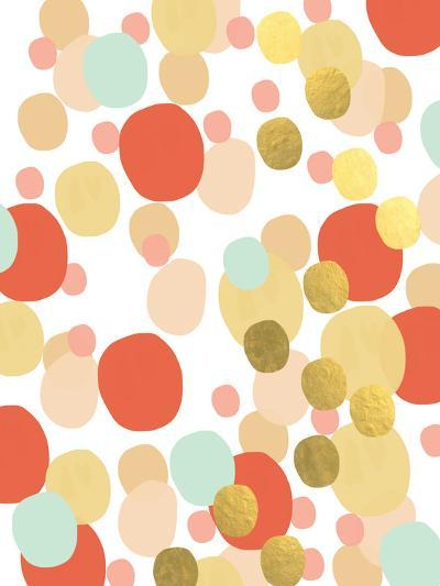 Abstract Painting Mint and Gold-Linda Woods-Art Print