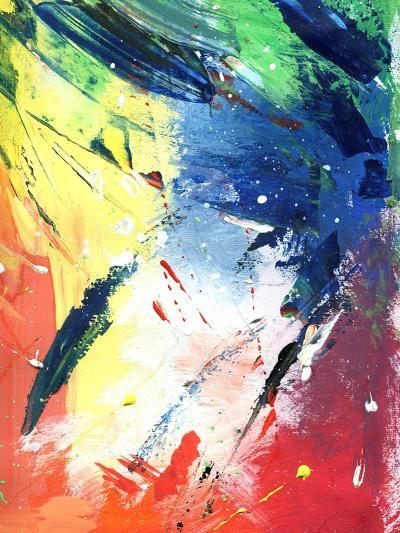 Abstract Painting With Expressive Brush Strokes-run4it-Art Print