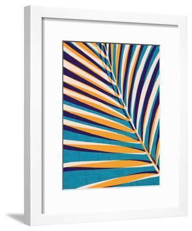 Abstract Palm Leaf-Modern Tropical-Framed Art Print