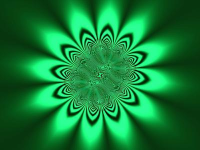 Abstract Pattern on Green Background-Albert Klein-Photographic Print