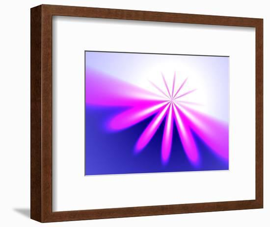 Abstract Pattern on Pink and Blue Background-Albert Klein-Framed Photographic Print