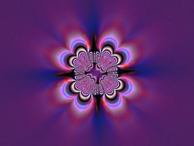 Abstract Pattern on Purple Background-Albert Klein-Photographic Print
