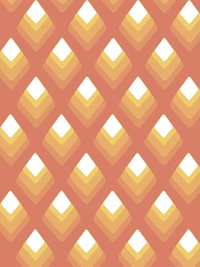 Abstract Pattern Peach-Whoartnow-Giclee Print