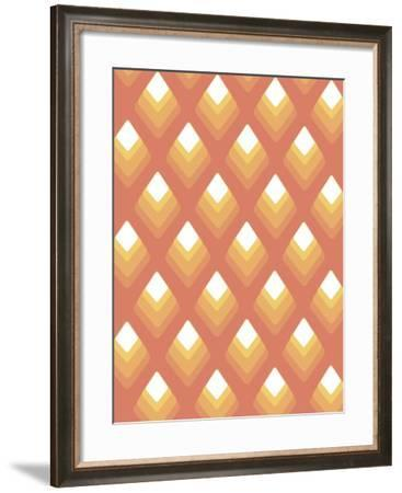 Abstract Pattern Peach-Whoartnow-Framed Giclee Print