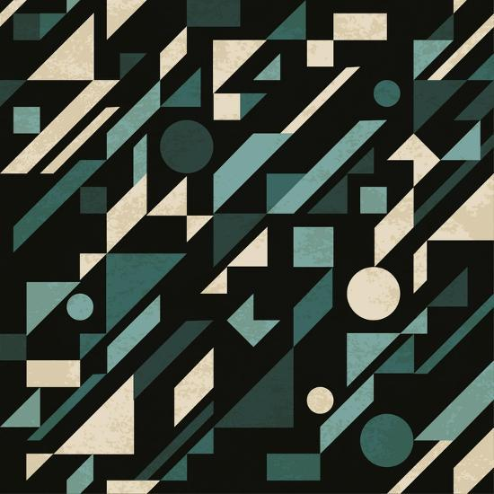 Abstract Pattern with Geometric Shapes-Magnia-Art Print