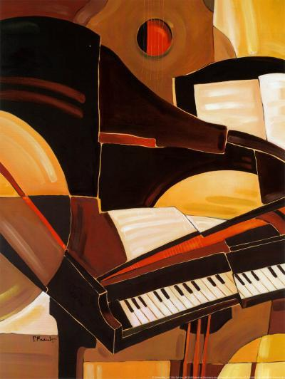 Abstract Piano-Paul Brent-Art Print