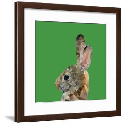 Abstract Polygonal Vector Illustration. Portrait of Rabbit-Jan Fidler-Framed Photographic Print