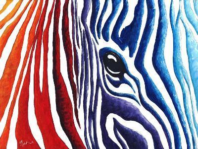 Abstract Pop Zebra-Megan Aroon Duncanson-Art Print
