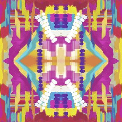 Abstract purple beads-Deanna Tolliver-Giclee Print
