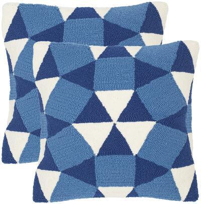 Abstract Puzzle Pillow Pair - Marine--Home Accessories