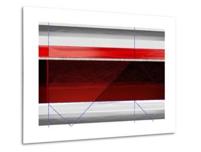 Abstract Red and Brown-NaxArt-Metal Print