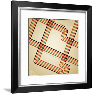 Abstract Retro Lines Background-OlgaYakovenko-Framed Photographic Print