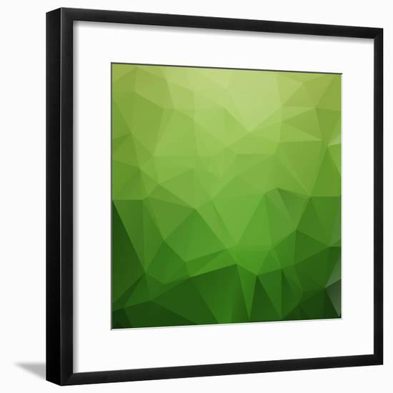 Abstract Retro Triangle Background-strizh-Framed Premium Giclee Print