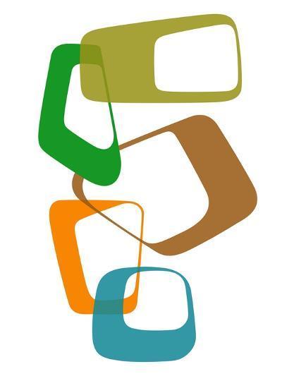 Abstract Rings 1-NaxArt-Art Print