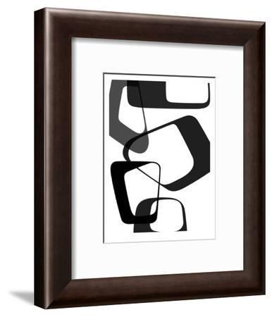Abstract Rings 2-NaxArt-Framed Art Print