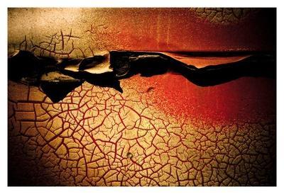 Abstract Rust Circle I-Jean-Fran?ois Dupuis-Art Print