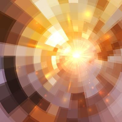 Abstract Shining Mosaic Background-art_of_sun-Art Print