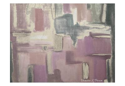 Abstract Soft Pink-Victoria Brown-Art Print