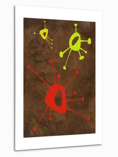 Abstract Splash Theme 20-NaxArt-Metal Print