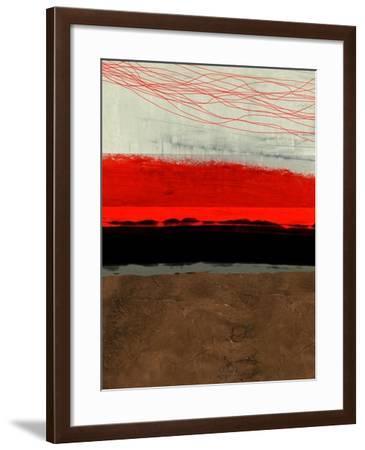 Abstract Stripe Theme Brown-NaxArt-Framed Art Print