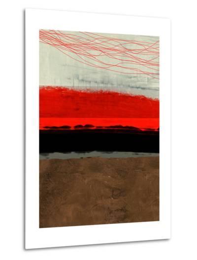 Abstract Stripe Theme Brown-NaxArt-Metal Print