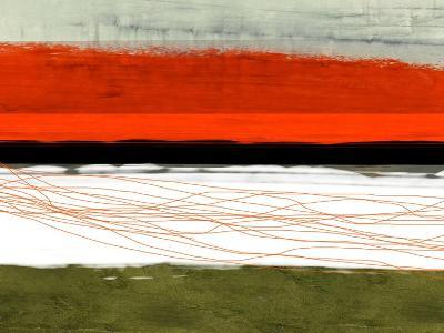 Abstract Stripe Theme Orange and Black-NaxArt-Art Print