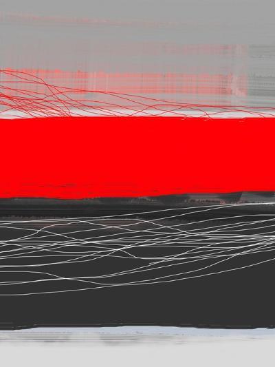 Abstract Stripe Theme Red-NaxArt-Art Print