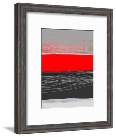 Abstract Stripe Theme Red-NaxArt-Framed Art Print