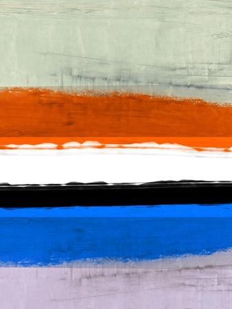 Abstract Stripe Theme White and Black-NaxArt-Art Print
