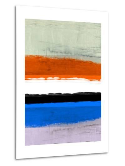 Abstract Stripe Theme White and Black-NaxArt-Metal Print